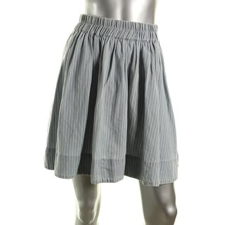 Marc by Marc Jacobs Womens Linen Blend Striped A-Line Skirt