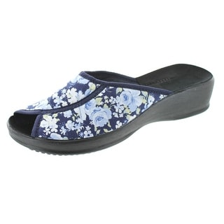 Sc Home Collection Womens Open Toe Floral Print Slippers