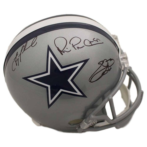 Shop Dallas Cowboys Triplets Autographed Replica Helmet Aikman Emmitt Irvin  BAS - Free Shipping Today - Overstock - 25684705 6e96ec40b