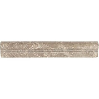"""Daltile M212CRL Marble Collection - 12"""" x 2"""" Chair Rail Wall Tile - Polished Mar"""