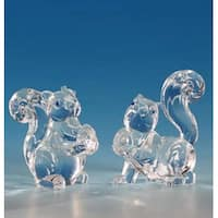"Club Pack of 12 Icy Crystal Decorative Squirrel Figurines 3"" - Clear"