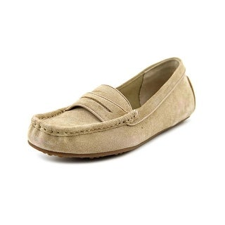 Isaac Mizrahi Arianne Women Square Toe Suede Nude Loafer