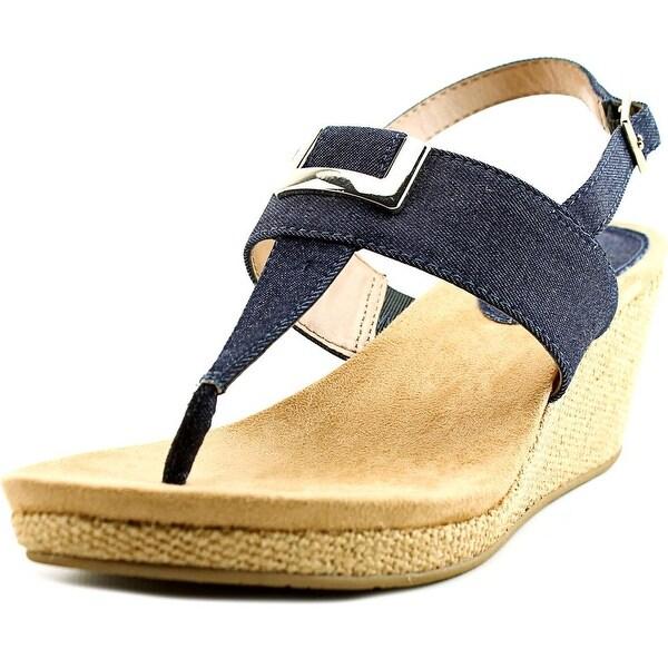 Style & Co Maryana Open Toe Canvas Wedge Sandal