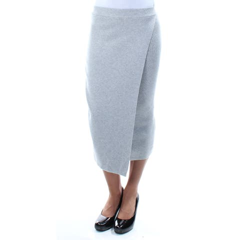 GUESS Womens Gray TeaLength Pencil Wear To Work Skirt Size: XS