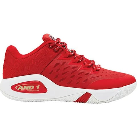 155b92c14903 AND1 Men s Attack Low Basketball Shoe Red Foil White