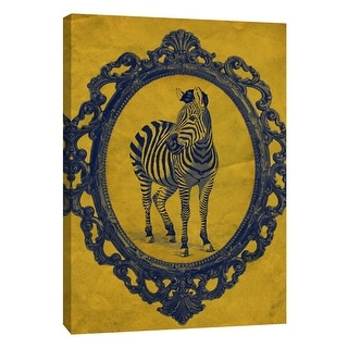 "PTM Images 9-105897  PTM Canvas Collection 10"" x 8"" - ""Framed Zebra in Yellow"" Giclee Zebras Art Print on Canvas"