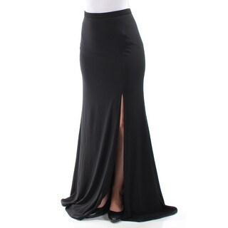 XSCAPE Womens New 1140 Black Slitted Full-Length Mermaid Formal Skirt 4 B+B