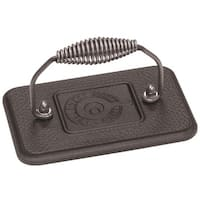 "Lodge LGP3 Cast Iron Rectangular Grill Press, 6-3/4"" x 4-1/2"""