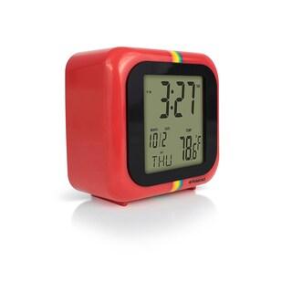 Polaroid Desktop Digital Clock with 12/24 Hour Display, Alarm/Snooze Functionalities with Back Light