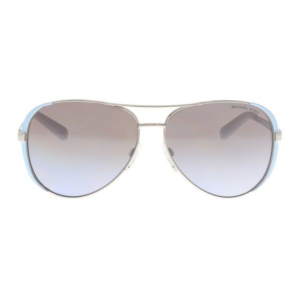 20c5f9436a2f0 Shop Michael Kors MK5004 112494 Grey  Blue Aviator Sunglasses - 59 ...