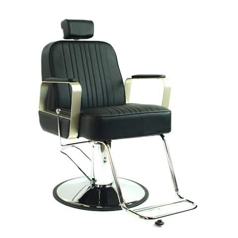 Hudson All Purpose Styling Chair Reclining Chair for Hair Salon, Black
