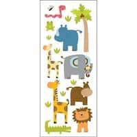 Sticko 473453 Puffy Classic Stickers-Zoo Friends