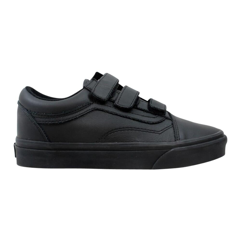 Vans Men's Old Skool V Black Mono Leather VN0A3D29OOZ Size 6