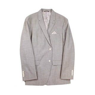 Tasso Elba NEW Gray Taupe Mens Size XL Two Button Cotton Blazer