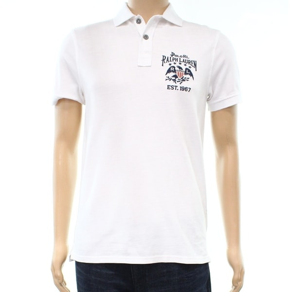 440b0a73 Shop Polo Ralph Lauren NEW White Mens Size XL Custom Slim Polo Rugby Shirt  - Free Shipping Today - Overstock.com - 21854271