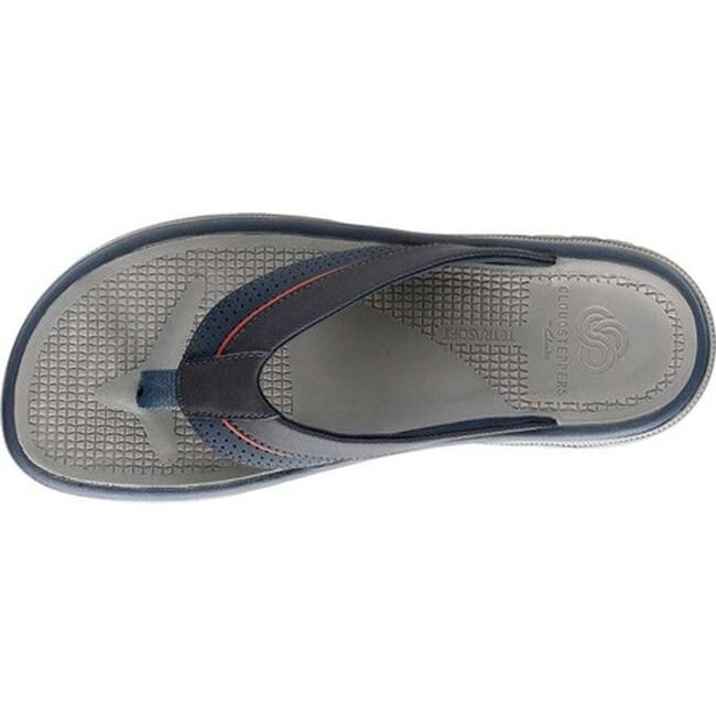 Clarks Men's Balta Sun Flip Flop Navy Synthetic