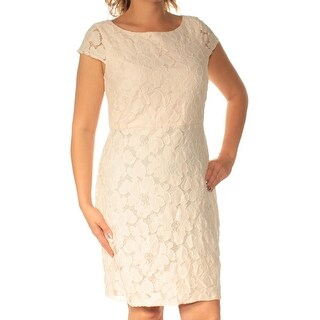 Womens Pink Short Sleeve Knee Length Sheath Casual Dress Size: 139