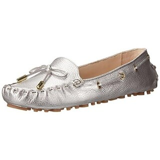 Cole Haan Womens Cary Metallic Leather Driving Moccasins - 5.5 medium (b,m)