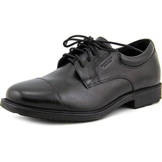 Rockport Essential Details WP Cap Toe Men  Cap Toe Leather Black Oxford