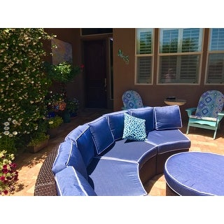 Madras Tortuga Outdoor Wicker Sectional Set with Ottoman by Christopher Knight Home