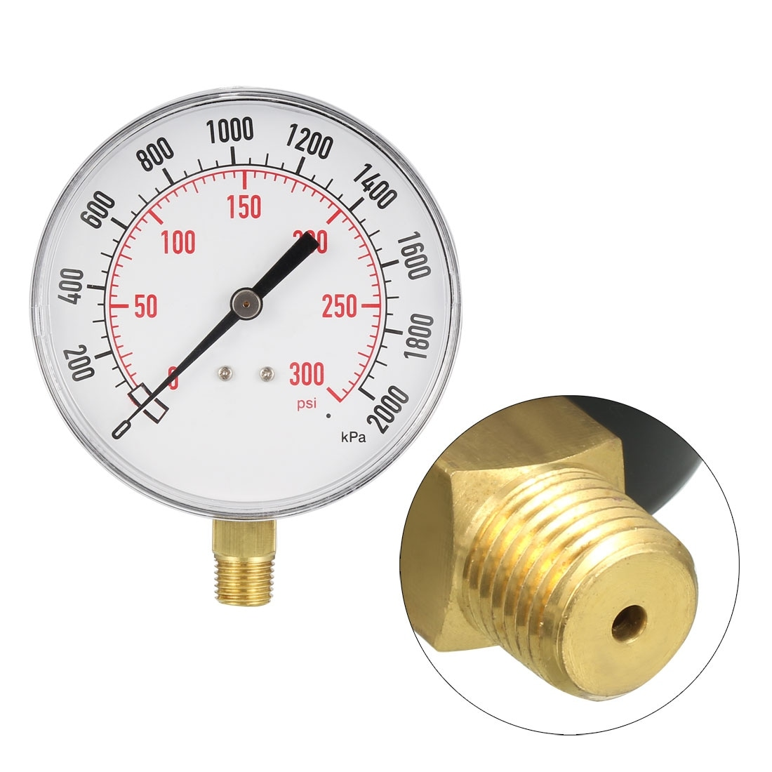 4 dial Lower Mount 4 dial 1//4 NPT Stainless Steel Connection Trerice 700SS4002LD100 Industrial Gauge dual scale 0 to 60 psi//KPA 1//4 NPT Stainless Steel Connection