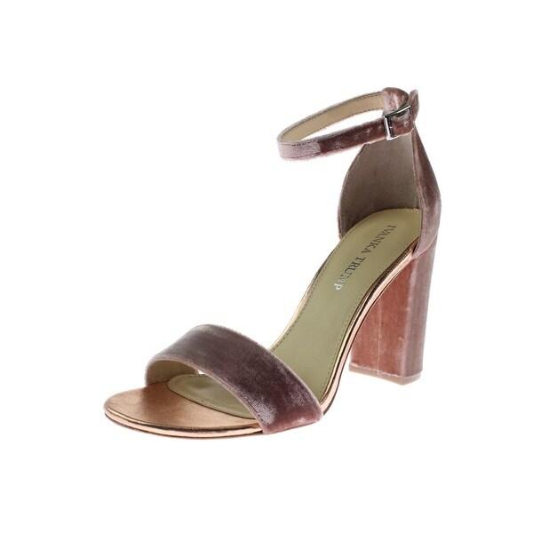 Ivanka Trump Womens Klover3 Dress Sandals Velvet Block Heel