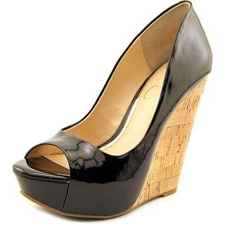 Jessica Simpson Bethani Women  Open Toe Synthetic Black Wedge Sandal