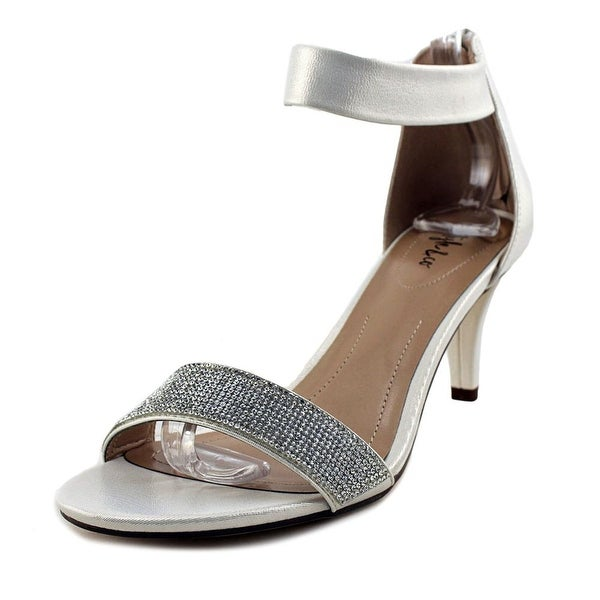 Style & Co Phillys Women White Silver Sandals