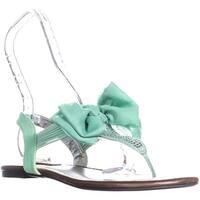 SC35 Skylar Ankle Strap Flat Sandals, Mint - 9.5 us
