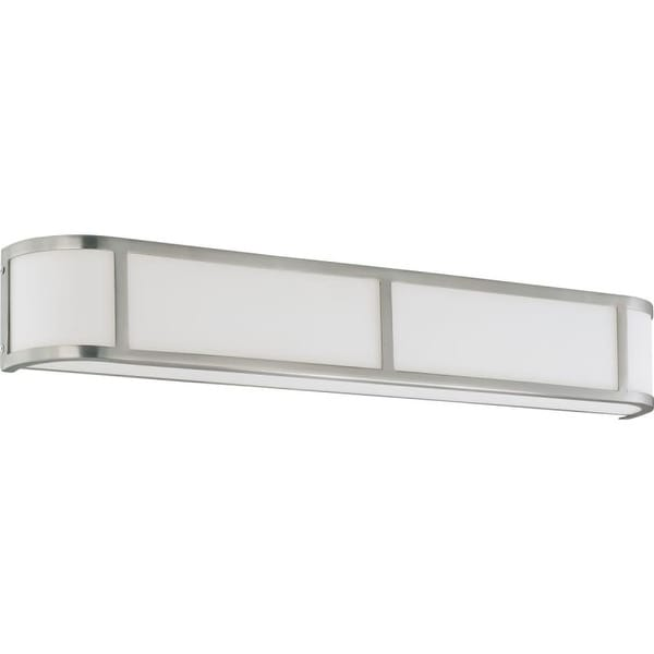"""Nuvo Lighting 60/2875 Four Light Ambient Lighting 32"""" Wide Bathroom Fixture from the Odeon Collection"""