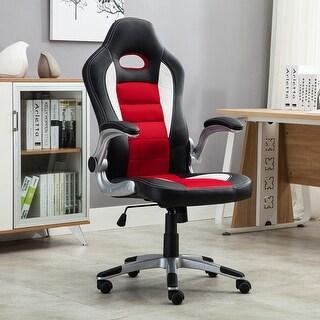 Belleze Gaming Office Chair Racing Bucket High Back Ergonomic Computer w/ Flip Armrest