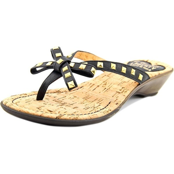 Love and Liberty Sofia Women Open Toe Leather Thong Sandal
