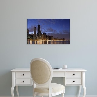 Easy Art Prints Panoramic Image 'Buildings at the waterfront, Lake Michigan, Chicago, Illinois' Canvas Art