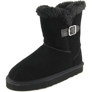 Style & Co Tiny 2 Women Round Toe Suede Black Winter Boot