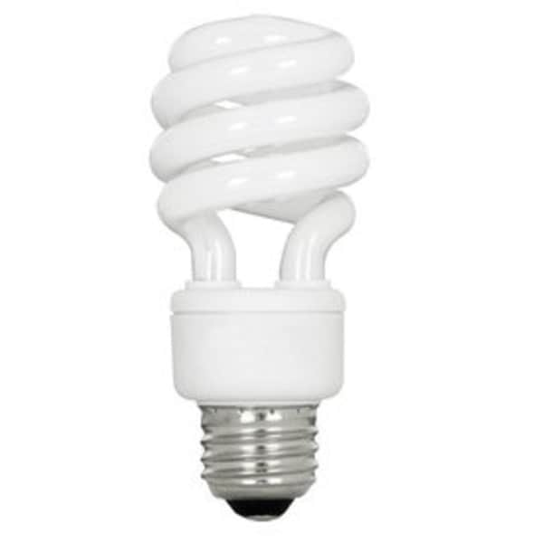 Pack of 2 Opaque White Twist Spiral Shaped Glass CFL Light Bulb 4.25""