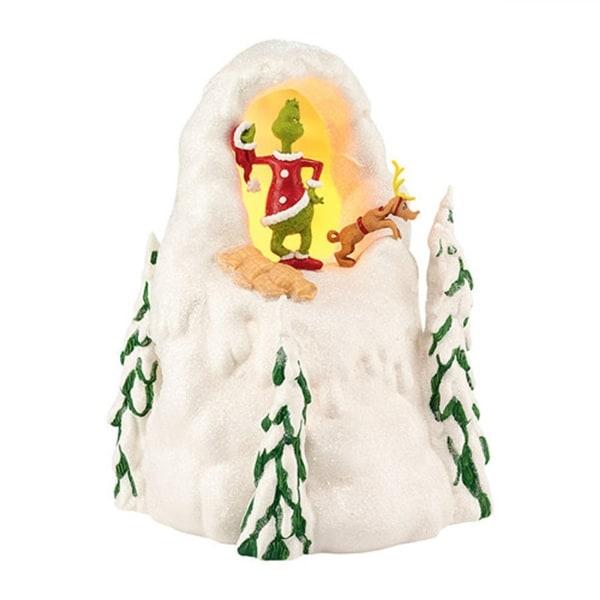 "Department 56 Dr. Seuss The Grinch ""Mount Crumpet"" Porcelain Lighted Building #4029621"