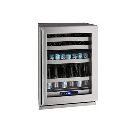 Beverage Center 24 In Dual Zone Reversible Hinge Stainless Frame 115v