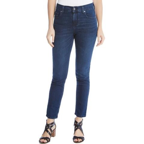 Karen Kane Womens Skinny Jeans Denim Mid-Rise