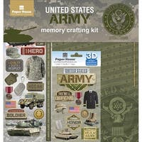Paper House KTSP-1017E U.S. Military Page Kit, Army - 12 x 12 in.