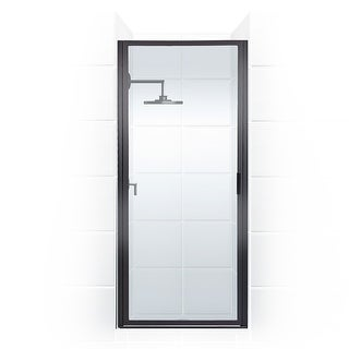 "Coastal Shower Doors P25.70-C  Paragon Series 25"" x 69"" Framed Continuous Hinge Shower Door with Clear Glass"