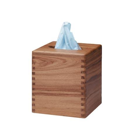 Whitecap teak tissue box holder 62344