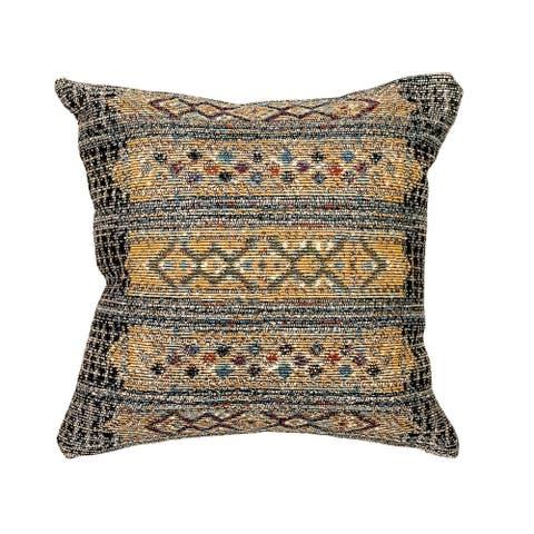 Liora Manne Marina Tribal Stripe Indoor/Outdoor Pillow Black