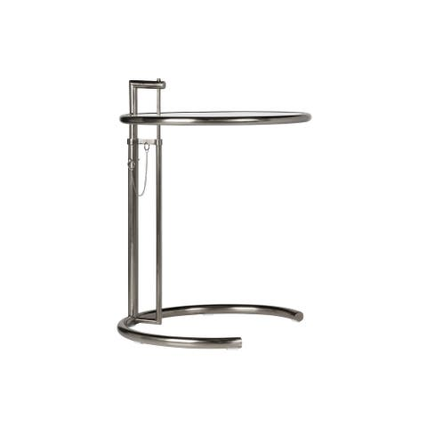 """Eileen Grey Side Table Adjustable Height 25"""" - 41"""" - Chrome Finish"""