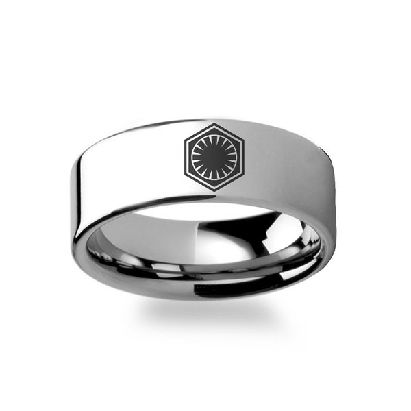 Shop Star Wars Force Awakens First Order Ring Symbol Tungsten