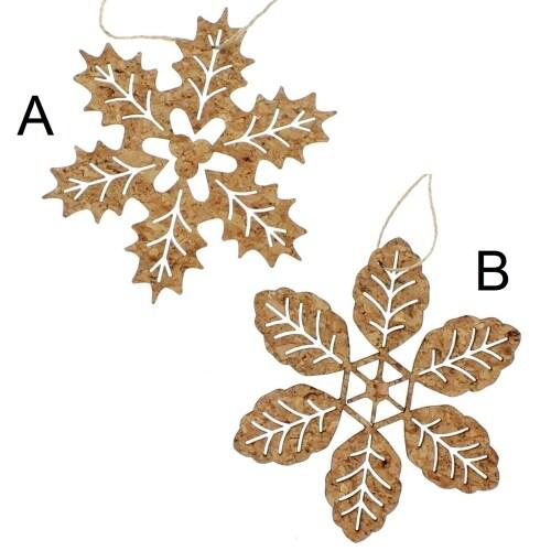 Glisten Cork Snowflake