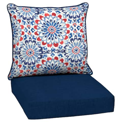 Arden Selections Clark Outdoor Deep Seat Cushion Set - 24 W x 24 D in.