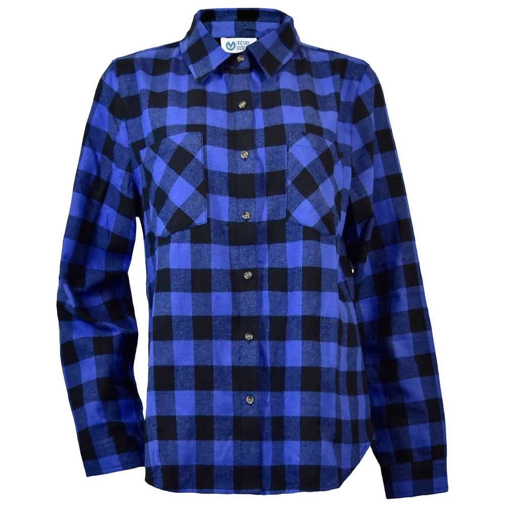 Victory Outfitters Ladies Plaid Flannel Button Up Shirt