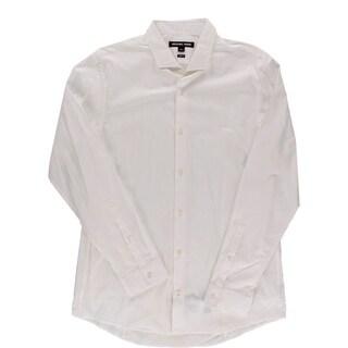 Michael Kors Mens Button-Down Shirt Woven Slim Fit