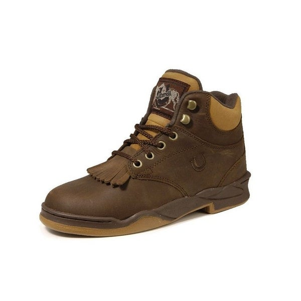 Roper Western Boots Mens Rider Lace Up Crazy Horse