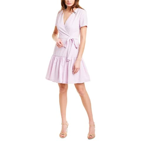 French Connection Mono Armoise Faux Wrap Dress
